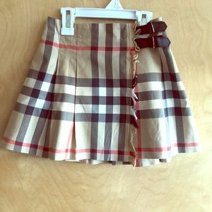 Burberry Girls lined wrapped skirt